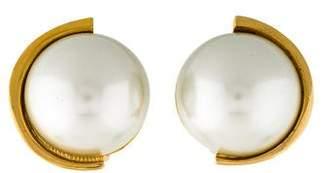 Lanvin Faux Pearl Clip-On Earrings