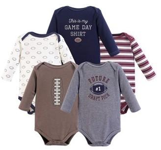Hudson Baby Long Sleeve Bodysuit 5pk (Baby Boys)