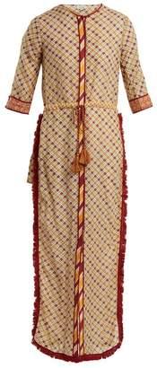 Talitha - Tutsi Graphic Print Cotton And Silk Blend Cover Up - Womens - Orange Multi