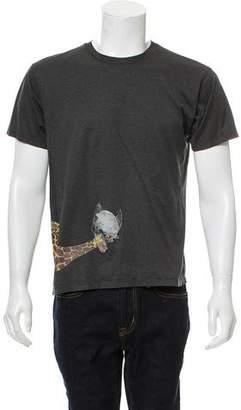 Lanvin Graphic Print Crew Neck T-Shirt