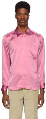 MSGM Pink Viscose Silky Shirt