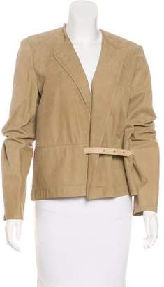 Yves Salomon Belted Suede Jacket