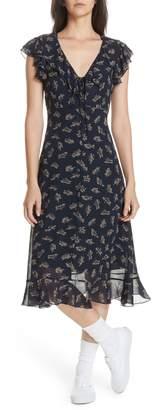 Polo Ralph Lauren Ruffled Floral Midi Dress