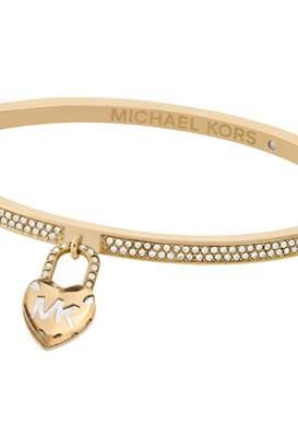 Michael Kors Jewellery Ladies Stainless Steel Logo Collection Logo Heart  Padlock Bangle MKJ7018710 dce90f42013a5
