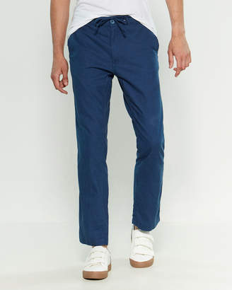 Onia Linen-Blend Collin Drawstring Pants