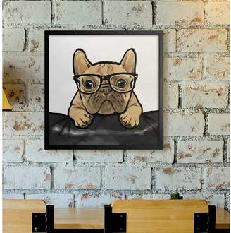 Mercury Row 'Nerdy Frenchman Dogs and Puppies Art' Wrapped Canvas Print