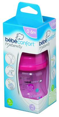 Bebe Confort Bebeconfort 2012 Collection 30000685 Maternity Feeding Bottle Polypropylene/Silicone 140 ml Size 1 Pink