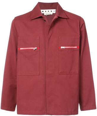 Marni chest pocket shirt jacket