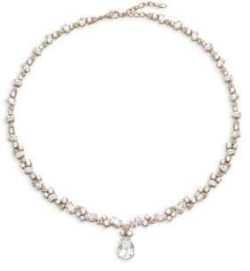 Adriana Orsini Cubic Zirconia Pearl Drop Pendant Necklace