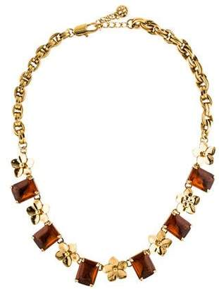 Tory Burch Cecily Floral Collar Necklace