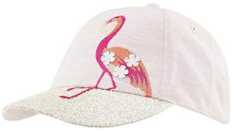 Monsoon Girl Flamingo Glitter Brim Cap