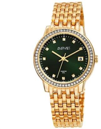 August Steiner Gold Tone Casual Quartz Watch With Alloy Strap [AS8262GN]