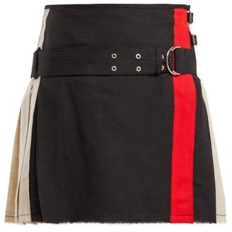 La Fetiche - Twiggy Pleated Mini Skirt - Womens - Black Multi