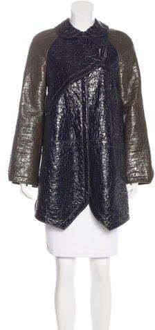 Balenciaga Balenciaga Vegan Leather Raglan Coat