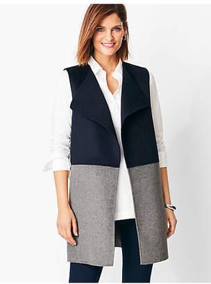 Talbots Colorblock Wool-Blend Vest