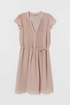 H&M Dress with Tie Belt - Pink