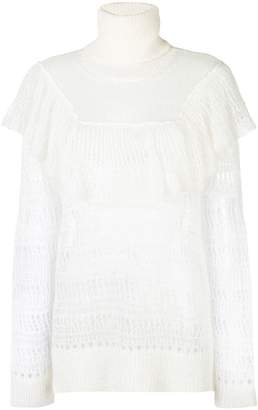 Stella McCartney ruffle-trimmed turtleneck knit