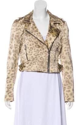 Alexis Leopard Print Moto Jacket