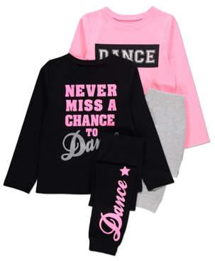 George Assorted Dance Slogan Long Sleeve Pyjamas 2 Pack