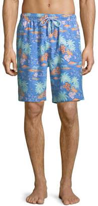 Peter Millar Men's Hawaiian Sunset Swim Trunks