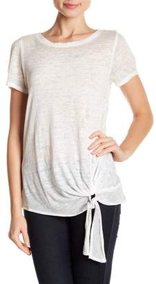 Susina Tie-Front Faded Tee (Regular & Petite)