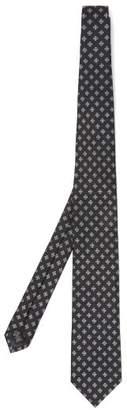 Ermenegildo Zegna Silk Jacquard Tie - Mens - Navy Multi