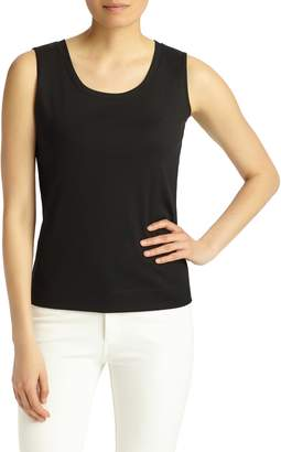 Lafayette 148 New York Stretch Swiss Cotton Rib Tank