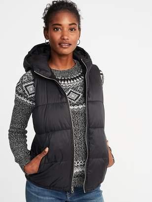 Old Navy Frost-Free Hooded Nylon Vest for Women