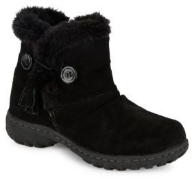 Khombu Copper Sherpa-Lined Suede Ankle Boots $75 thestylecure.com