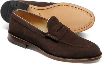 Charles Tyrwhitt Chocolate Suede Penny Loafer Size 11