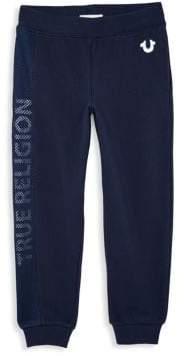 True Religion Little Boy's& Boy's Mesh Logo Sweatpants