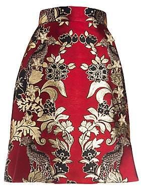 Dolce & Gabbana Dolce& Gabbana Dolce& Gabbana Women's Silk-Blend Jacquard A-Line Skirt