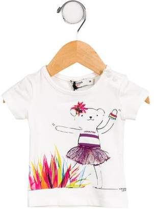 Junior Gaultier Girls' Graphic Knit Top w/ Tags