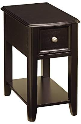 Signature Design by Ashley Ashley Furniture Signature Design - Breegin Chair Side End Table - Contemporary Style - Rectangular - Dark Finish