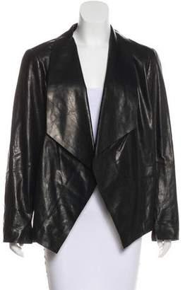 Lafayette 148 Draped Leather Jacket w/ Tags