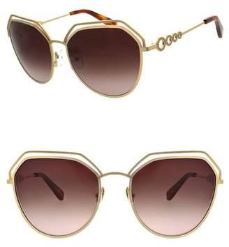 bac3b25b41 Oscar de la Renta Gold Women s Sunglasses - ShopStyle