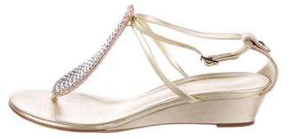 Giuseppe Zanotti Strass Wedge Sandals