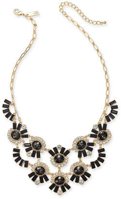 "INC International Concepts I.n.c. Gold-Tone Crystal & Stone Statement Necklace, 18"" + 3"" extender"