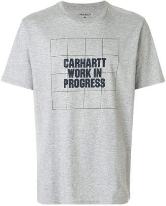 Carhartt grid logo T-shirt