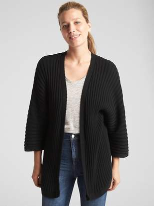Gap Open-Front Plaited Rib Cardigan Sweater
