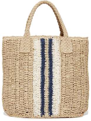 Hat Attack Striped Bag $87 thestylecure.com