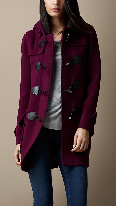 Burberry Wool Fitted Duffle Coat