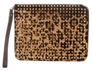 Christian Louboutin Studded Ponyhair iPad Case
