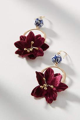 Anthropologie Fallen Flower Drop Earrings