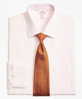 Brooks Brothers Madison Classic-Fit Dress Shirt, Non-Iron Double Split Windowpane
