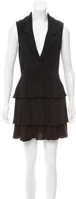Cushnie et Ochs Pleated Mini Dress