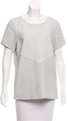 Maison Scotch Perforated Leather Top w/ Tags