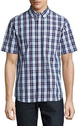 Black Brown 1826 Plaid For Dad Short Sleeve Shirt
