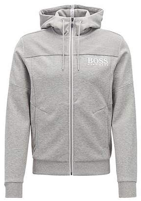 9bc6df47c5b3 at HUGO BOSS · HUGO BOSS Hooded sweatshirt with contrast zip and logo detail