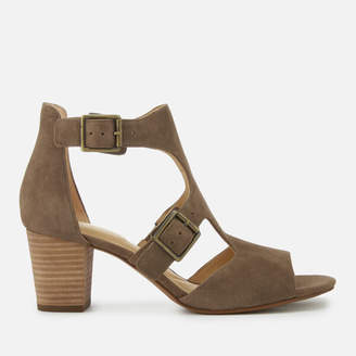 Clarks Women's Deloria Kay Suede Block Heeled Sandals